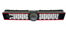 VW POLO 6R GTI 2009-2014 FRONT MAIN GRILLE WITH RED TRIMS BRAND NEW