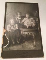 BAGNE FAMILY (BERTIE,CLARA &,SANDER) ULEN MN ANTIQUE PHOTO~TWIN VALLEY MN