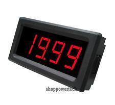 Red LED Digital Voltmeter,12V DC Battery Monitor Panel Meter