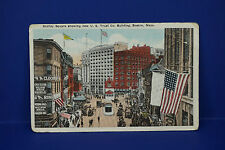Vintage Scollay Square U.S. Trust Co Building Boston Ma Color Post Card,Pc3