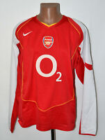 ARSENAL LONDON 2004/2005 HOME FOOTBALL SHIRT JERSEY NIKE LONG SLEEVE