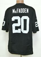 NFL OAKLAND RAIDERS AMERICAN FOOTBALL SHIRT #20 McFADDEN NIKE SIZE L ADULT