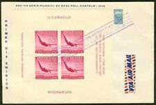 Nicaragua 1949 FDC Diving SS, only 2500 printed