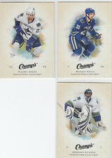 08/09 UD Champs Vancouver Canucks 3 card lot - Sedin Luongo Sedin