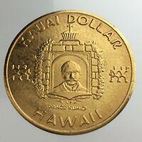 Kauai Dollar Hawaii Token Aloha Garden Isle Sleeping Giant Coin Medallion U152