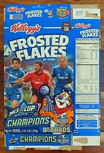 Kellogg's Cereal Box FROSTED FLAKES 2000 MLS Cup Champions KANSAS CITY WIZARDS