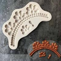 Gem Cake Border Silicone Mold DIY Fondant Cake Decorating Tools Baking Mould J&C
