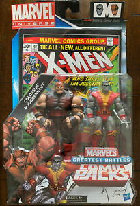 MARVEL UNIVERSE 2012 Colossus & Juggernaut Marvel's Greatest Battles Comic Packs