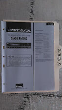 Sansui ra-1000 service manual original repair book stereo reverb amp amplifier