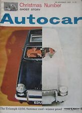 Autocar magazine 24/12/1965 featuring Willment Super Sprint Ford Cortina GT