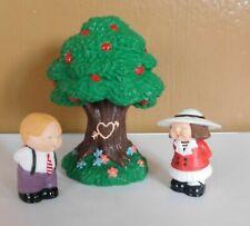 Lot of 3 Hallmark Merry Miniatures 1994 Tree Bashful Boy & Girl