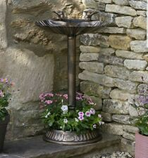 Beautiful Bronze Colour Bird Bath with Base for Plants/Flowers