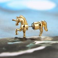 3D Flying Horse Pegasus Wing Unicorn Pony Ear Stud Wrap Earring Kawaii WO