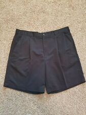 """Mens black IZOD Pleated Shorts Size 40 with a 8"""" inseam"""