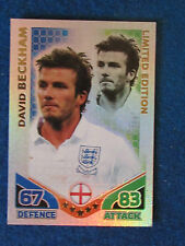 Topps Match Attax Card - David Beckham - England - Limited Edition - Red Back