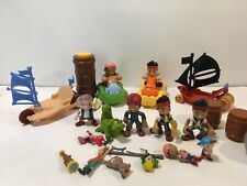 Disney Jake and the Neverland Pirates Lot Ship Figures Boat Tiki Water Jet Racer