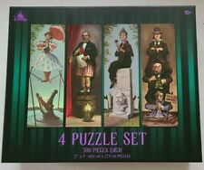 New Disney Parks The Haunted Mansion 4 Puzzle Set Stretching Room Portrait 500pc