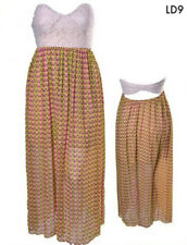 LD9 Womens Lace Long Maxi Stretch Sundress Slim Beach Dress Plus Size 14 16 1XL