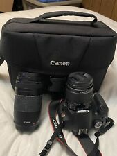 Canon EOS Rebel T5 1200D Camera Kit W/2 Lenses,  Battery Charger, SD Card