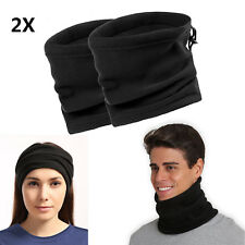 2X Polar Fleece Neck Warmer Snood Scarf Hat Unisex Thermal Ski Wear Snowboarding