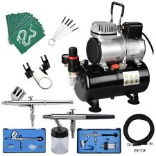 AS186 Complete Airbrush Kit Compressor w/ Tank Air Brush Nail Tattoo Spray Gun