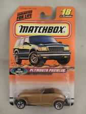 Matchbox , Cool Concepts - Plymouth Prowler  Gold  NOC  1:64  (418MH)  18/75