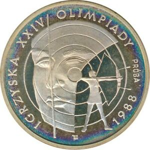 Polen 1.000 Zlotych 1987 PP Sommer Olympiade 1988 Silber Proba*