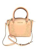 Michael Kors Ellis Fawn Pink Small Gold Studded Satchel Leather  NWT Jan19-1