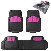 Universal Floor Mats Football Design Pink for Car SUV Van w. FREE Dash Mat Gift