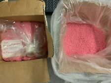 Abs Plastic Pellets Injection Molding Resin Material Pre Colored Pink 38 Lbs