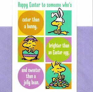 Peanuts Woodstock Happy Easter Cuter Than A Bunny Theme Hallmark Greeting Card