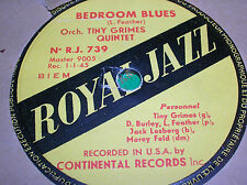 78 rpm-TINY GRIMES QUINTET - Bedroom blues - Living room romp- ROYAL JAZZ 739