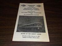 JANUARY 1964 RED ARROW LINES PHILADELPHIA SUBURBAN TRANSPORTATION LIBERTY LINER