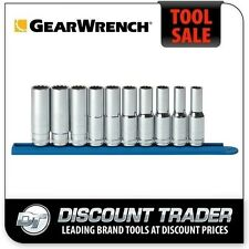 "GearWrench 10 Piece 1/2"" Drive 12 Point Deep Metric Socket Set - 80712"