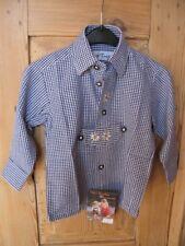 KIDSTRACHT Hemd Gr 62 - 164 Trachtenhemd zur Lederhose blau kariert Volksfest