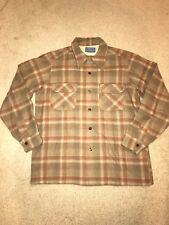 Vintage PENDLETON High Grade Western Wear Brown 100% Virgin Wool Shirt Mens M