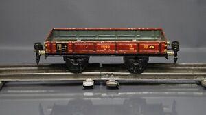 Pre War WWII Marklin Tin Toy Train O Gauge 0 Flat Car 17720 Low Board Freight