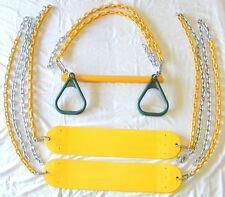 swingset swing kit, play set, 2 belt seats & trapeze,playground accessory,pvc54R