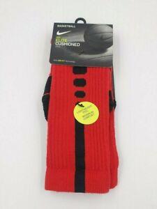 Nike Elite Basketball Socks Kids Shoe Size 3Y-5Y, 4-6, Red, Crew SX5593-657 L11