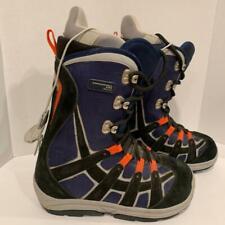 Burton Moto Snowboard Boots Black Blue Men's Size 6
