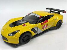 Chevrolet Corvette C7. R #3 1:36 Diecast  KT-5397 Yellow