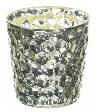 Insideretail 7 cm Mercury Glass Tea Light Holders, Bubble, with Distressed Foil,
