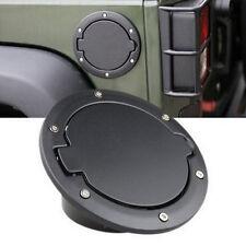 Blcak Gas Cap Fuel Cover Non Locking For 2007-17 Jeep Wrangler JK Sahara 2&4 dr