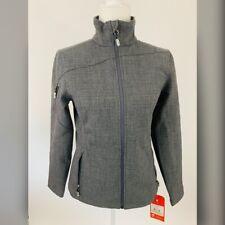 Womens Gray Spyder Zipper Closure Jacket Size S