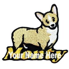 Pembroke Welsh Corgi Dog Custom Iron-on Patch With Name Personalized Free