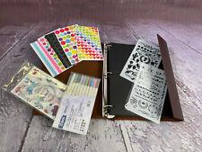 YILEEY Fotoalbum zum Selbstgestalten Leder Scrapbook Schwarze Seiten 28x21cm NEU