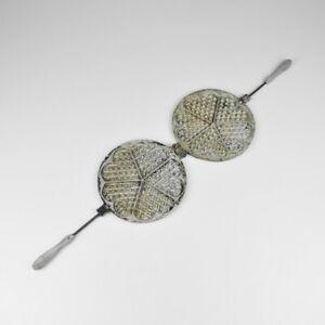 Vintage Waffle Maker - Old - Metal - Aluminium - Heart Shape