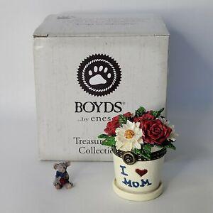 Boyds Lil Juniors Flowerpot With Petal McNibble Treasure Box