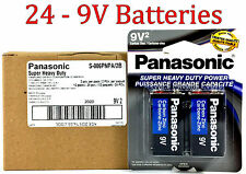 24 Wholesale 9V Panasonic 9 Volts Batteries Battery Super Heavy Duty Lot
