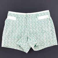 "Anthropologie Cartonnier Women's Shorts Green Lace 4"" Inseam Stretch Sz 4 $88"